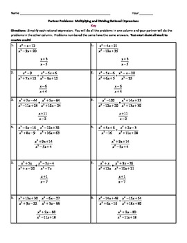 Multiplying and dividing rational expressions homework help