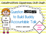 Partner Question Cards: Accountable Classroom Chit Chat!