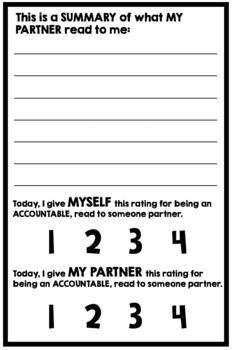 Partner Read Accountability Slips