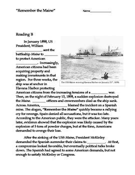 Partner Read - Spanish American War - Remember the Maine
