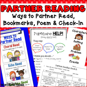 Partner Reading - Posters and Bookmarks