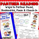 Partner Reading - Posters, Poem, Anchor Chart, Bookmarks, Behavior Check