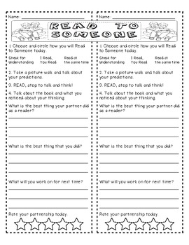 Partner Reading Accountability Page