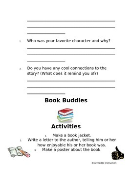 Partner Reading Activities *Book Buddies*