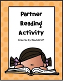 Partner Reading Activities Chart