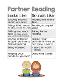 Reading Expectations (Partner Reading and Reading to Self)