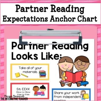 Partner Reading Anchor Chart