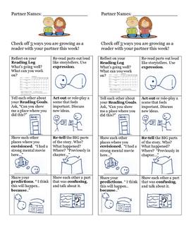 Partner Reading Bookmark