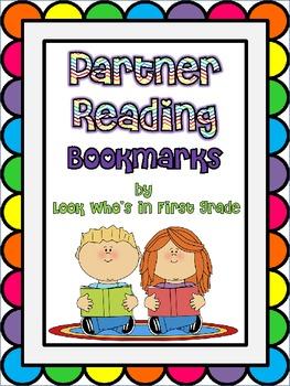 Partner Reading Bookmarks