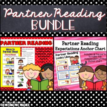 Partner Reading Bundle: Anchor Charts, Bookmarks & Rubric