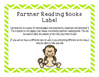 Partner Reading Center