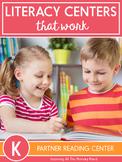 Partner Reading Center Activities for Kindergarten