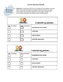 Partner Reading Checklist