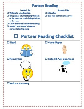 Partner Reading Checklist Grades 2-6