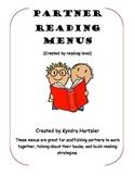 Partner Reading Menus Levels 1-14
