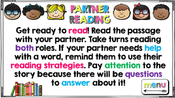 Partner Reading Passages & Comprehension Questions (15)