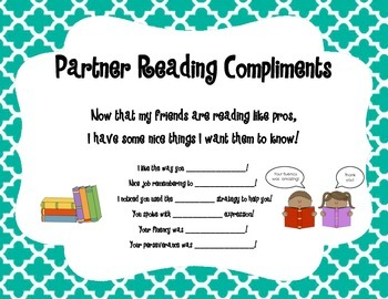 Partner Reading Prompts, Cues, and Questions: Bookmarks and Anchor Charts