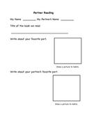 Partner Reading Recording Sheet