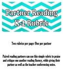 Partner Reading Rubric
