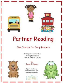 Kindergarten Reading: Partner Stories for Beginners