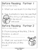 Partner Reading Turn and Talk Cards Set 1