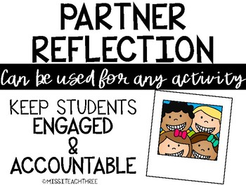 Partner Reflection (Rubric Based)
