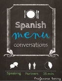 Partner Speaking Activity with a Spanish Menu