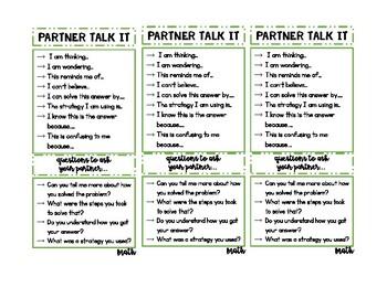 Partner Talk Book Marks