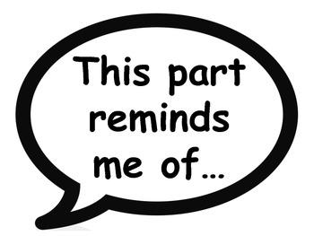 Partner Talk/ Reading Response/Thought Starter Posters