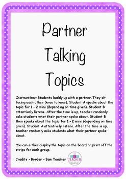 Partner Talking Topics