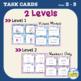 Partner Task Cards - Equivalent Fractions {Leveled}