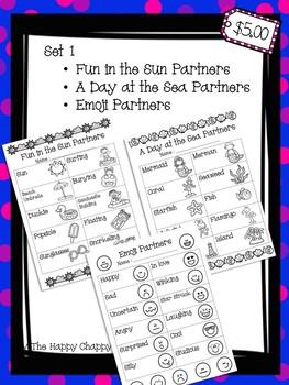 Partner Up Bundle Set 1 Classroom Management