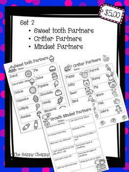 Partner Up Bundle Set 2 Classroom Management