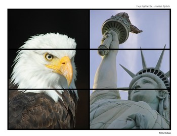Partner Ups! American Symbols  FREEBIE!