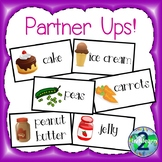 Partner Ups! Cards for Partnering and Grouping Students
