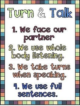 Partner Work Anchor Chart Set