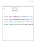 Partner Work-Spanish