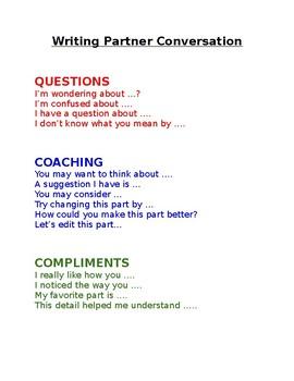 Partner Writing Conversation & Exit Slip