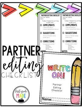 Partner Writing and Editing for Writer's Workshop