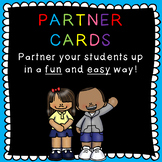 Partner cards: partner your students up in an easy and fun way!
