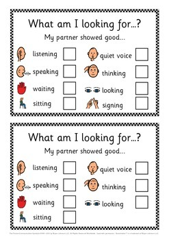 Partner, group & cooperative learning social skills flashcards and checklist