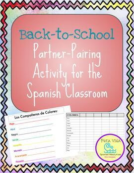 Partner pairing activity for Spanish classroom