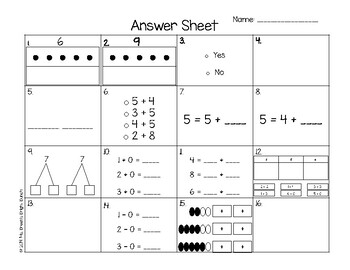 Partners Through 10 & Patterns Task Cards (Math Expressions Grade 1 Chapter 1)
