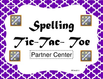 Partners Tic-Tac-Toe Spelling Center
