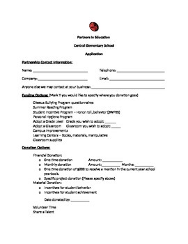 Partners in Education Application