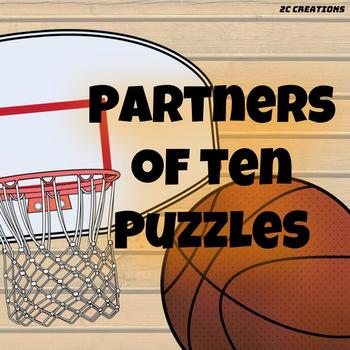 Partners of 10 Puzzles (Basketball Theme)