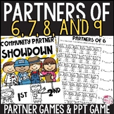 Number Partners for 6, 7, 8, and 9