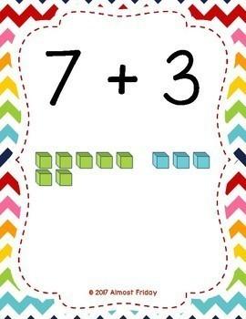 Partners of Ten (Make a Ten) Posters with Base Ten Blocks