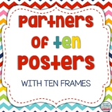 Partners of Ten (Make a Ten) Posters with Ten Frames