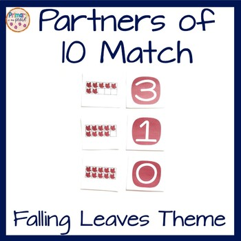 Partners of Ten or Addends of Ten Memory Match Game
